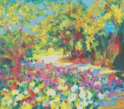 172-ST Розы. Южная терраса дворца  мозаичная картина (Белоснежка) - Мозаика «Белоснежка»