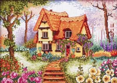 1898-14 Сказочный домик (Белоснежка) - Наборы для вышивания «Белоснежка»