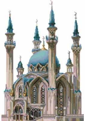 4140-14 Мечеть Кул Шариф (Белоснежка) - Наборы для вышивания «Белоснежка»