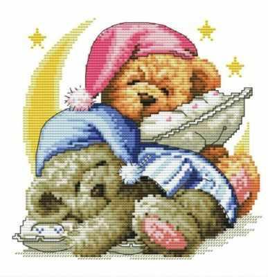 776-14 Два медвежонка (Белоснежка) - Наборы для вышивания «Белоснежка»