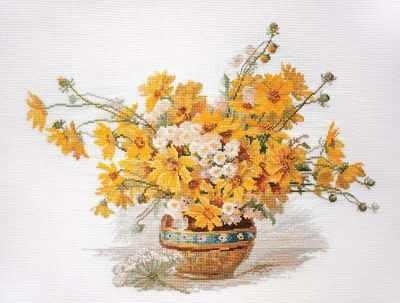 Фото - Набор для вышивания Марья искусница 06.002.57 Желтые ромашки набор для вышивания марья искусница 02 006 02 ла