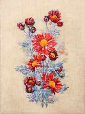 Фото - Набор для вышивания Марья искусница 04.004.05 Красные хризантемы набор для вышивания марья искусница 11 002 25 зима
