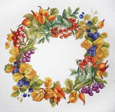 Фото - Набор для вышивания Марья искусница 06.002.55 Ягодный венок набор для вышивания марья искусница 11 002 25 зима