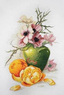 Фото - Набор для вышивания Марья искусница 06.002.56 Анемоны и апельсины набор для вышивания марья искусница 16 001 04 дубовые листья