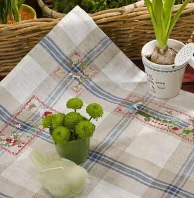 TJPL/DIM Полотенце «Нежная зелень» (ПВ) - Наборы для вышивания «Парижские Вышивальщицы»