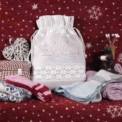 PLAL/TEN Мешочек «Старинное бельё» (ПВ) - Наборы для вышивания «Парижские Вышивальщицы»