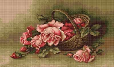 B483 Корзина с розами