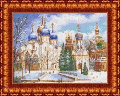 Основа для вышивания с нанесённым рисунком Каролинка КБП 3031 Троице-Сергиеева лавра - схема для вышивания (Каролинка)