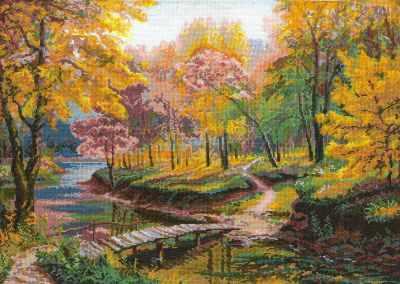 Набор для вышивания Nitex 0005 Осенняя прогулка набор для вышивания крестом nitex прогулка в санях 44 х 26 5 см page 5
