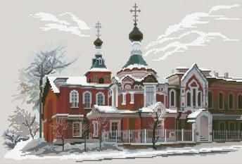 0051 Церковь Иоанна Предтечи (Nitex) - Наборы для вышивания «NITEX»