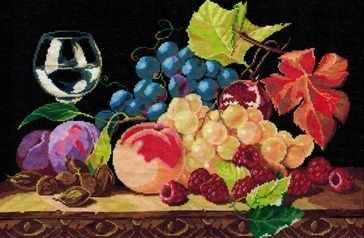 0206 Натюрморт с виноградом (Nitex) - Наборы для вышивания «NITEX»
