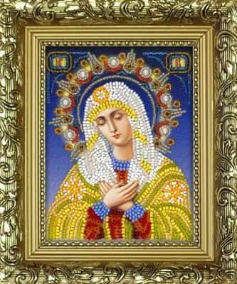 Набор для вышивания иконы Вышиваем бисером R-4 Набор Умиление