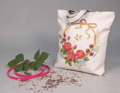 8520 Цветочный венок - текстильная сумка набор (МП)