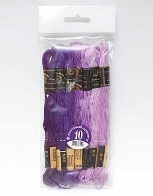 Набор мулине х/б Цветик-семицветик 10 Фиолетовый лепесток 7 шт.