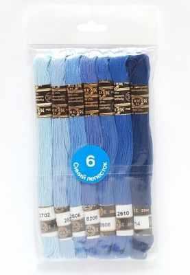 Набор мулине х/б Цветик-семицветик 6 Синий лепесток 7 шт.