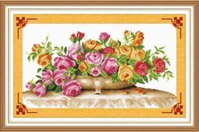 S-020  Облако роз  - Наборы для вышивания крестиком «HobbyPro»