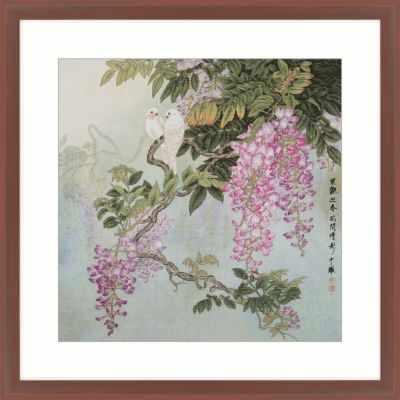 2800403 Птицы на ветках глицинии  набор (Xiu Crafts) - Наборы для вышивания «Xiu Crafts»
