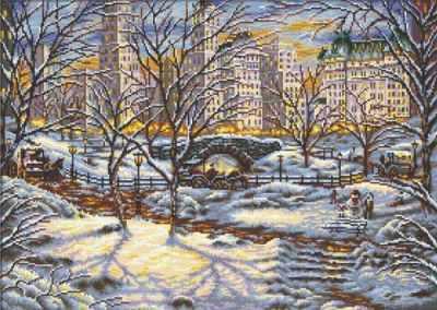 S-068  Зимний пейзаж  - Наборы для вышивания крестиком «HobbyPro»