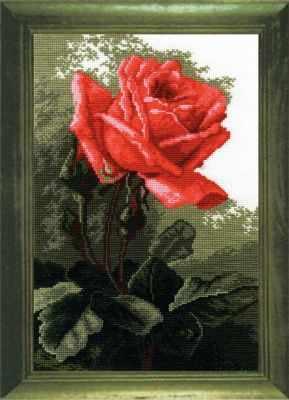 Фото - Набор для вышивания РС-студия 443 Роза розовая роза вышивка