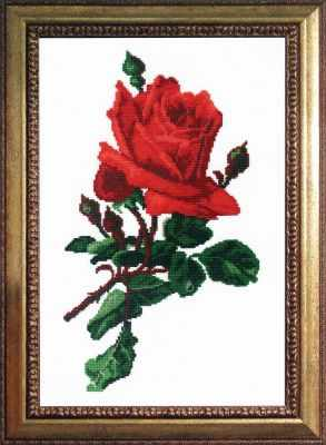 Фото - Набор для вышивания РС-студия 491 Роза красная роза вышивка