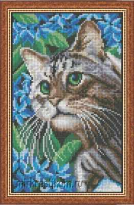 Набор для вышивания Искусница 637 Кот в синих цветах набор для вышивания искусница м8166 черный кот