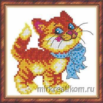 Набор для вышивания Искусница 183 Кот с бантом набор для вышивания искусница м8166 черный кот