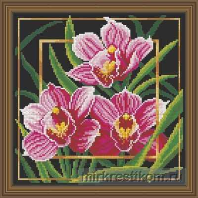 Набор для вышивания Искусница 566 Цветок. Орхидея