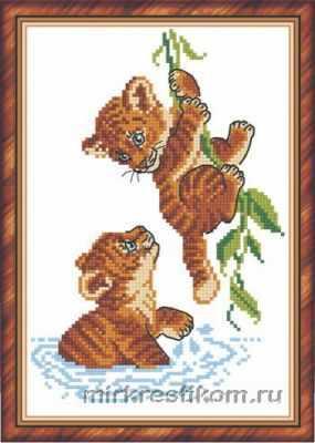 Набор для вышивания Искусница 241 Тигрята озорники яковенко любовь васильевна малыши озорники