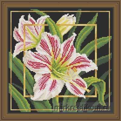 Набор для вышивания Искусница 568 Цветок. Гиппеаструм