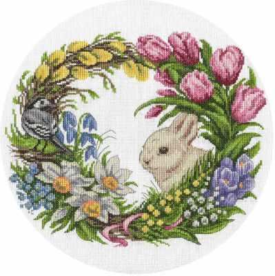Фото - Набор для вышивания Panna PS-1787 Весенний венок набор для вышивания panna ps 1615 осенний венок