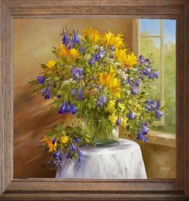 Основа для вышивания с нанесённым рисунком FeDi Р310 Полевые цветы - схема для вышивания (FeDi) turtleneck flora fedi