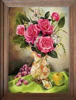 Основа для вышивания с нанесённым рисунком FeDi Р445 Розовый букет - схема для вышивания (FeDi) turtleneck flora fedi