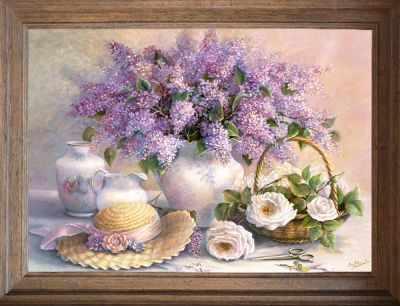 Основа для вышивания с нанесённым рисунком FeDi Р401 Сирень - схема для вышивания (FeDi) turtleneck flora fedi