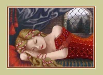 НР-016  Спящая красавица  (Анюша) - Наборы для вышивания бисером ТМ «Анюша»