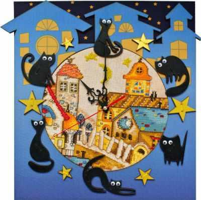 Набор для вышивания Nova Sloboda РТ 6513 Кошкин дом
