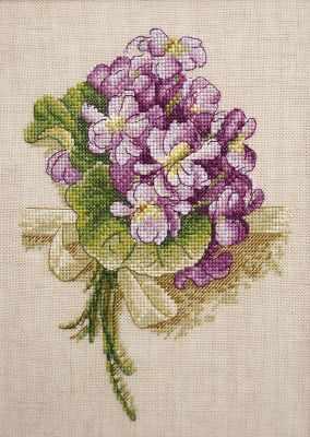 Фото - Набор для вышивания Марья искусница 04.001.08 Букет фиалок набор для вышивания марья искусница 11 002 25 зима