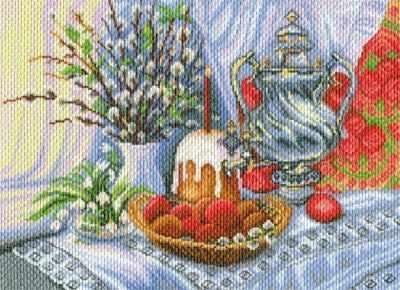 Основа для вышивания с нанесённым рисунком Матрёнин Посад 1767 Пасхальный натюрморт - рисунок на канве (МП) набор для вышивания матрёнин посад 6547 ск пасхальный зайчик набор для вышивания мп