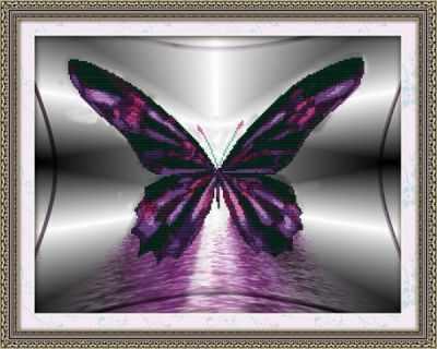 80259 Бабочка - Мозаика «Color Kit»