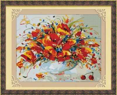 MO030 Весенние маки - Мозаика «Color Kit»