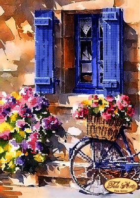 Купить со скидкой ТМ-086 - Цветущая улочка - схема (Tela Artis)