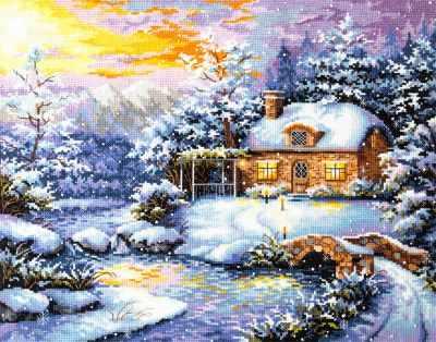 Фото - Набор для вышивания Чудесная игла 45-08 Зимняя сказка чудесная планета земля