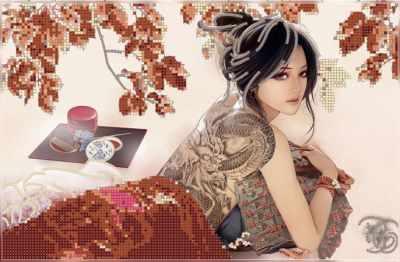Набор для вышивания Художественные мастерские 1Нбис-007арт Восточная осень - набор