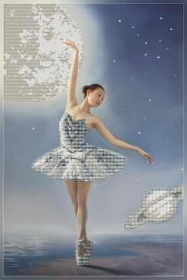 1Нбис-033арт Лунная соната  набор - Наборы для вышивания «Художественные мастерские»