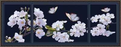 1Нбис-039арт Аромат весны (триптих)  набор - Наборы для вышивания «Художественные мастерские»