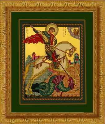 1НИ-017 Св. Георгий Победоносец  набор - Наборы для вышивания икон «Художественные мастерские»