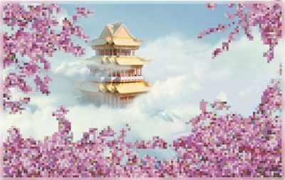 художественные книги Основа для вышивания с нанесённым рисунком Художественные мастерские бис-010арт Небесная пагода - схема для вышивания (Художественные мастерские)