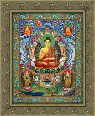 Бд-001 Будда Шакьямуни  схема - Рисунки на ткани Художественные мастерские (схемы)