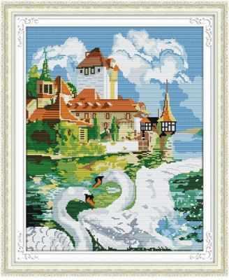 MO027 Лебединая пара - Мозаика «Color Kit»