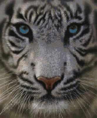 Купить со скидкой 50005 Белый тигр - мозаика Anya