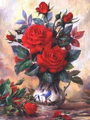 Фото - Алмазная мозаика Алмазная живопись Алмазная вышивка Прекрасные розы (АЖ-1349) - картина стразами алмазная мозаика алмазная живопись алмазная вышивка львиный прайд аж 1399 картина стразами